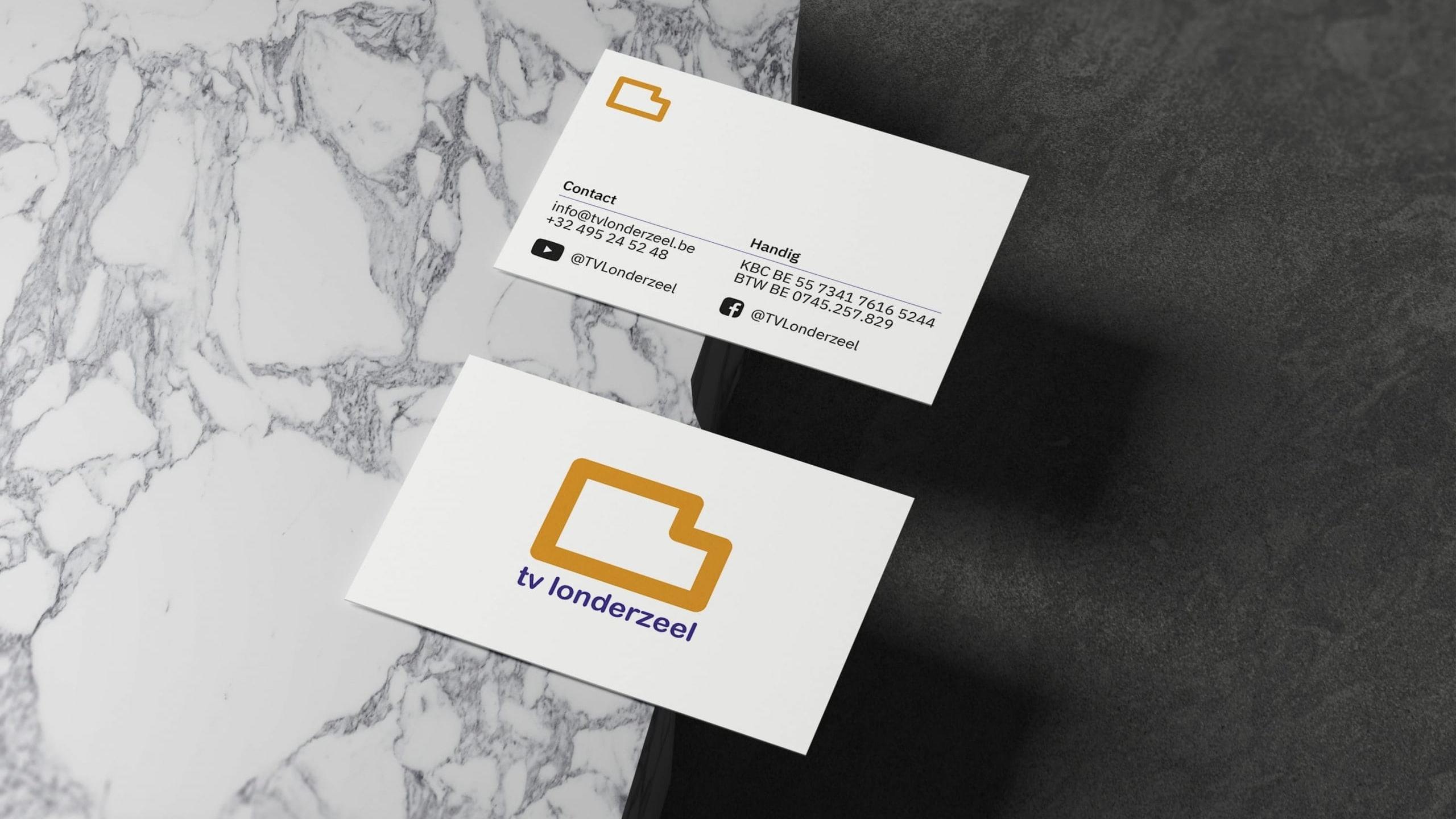 Larkom Webdesign in Londerzeel TV Londerzeel Visitekaartjes Business Cards